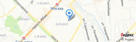 Балдырган на карте Алматы