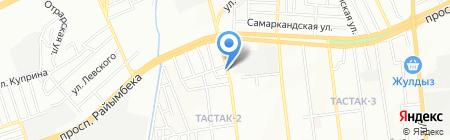 Автосервис на ул. Тлендиева на карте Алматы