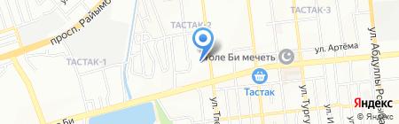 Тан-Шолпан на карте Алматы