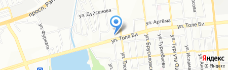 Нотариус Нургисаев Б.А. на карте Алматы