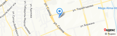 Гульзара на карте Алматы