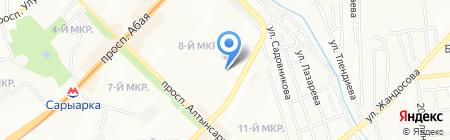 Курал на карте Алматы