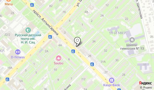 Kids city. Схема проезда в Алматы