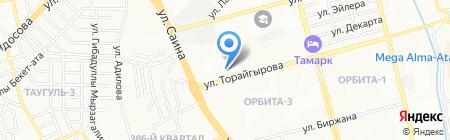 Клиника на карте Алматы