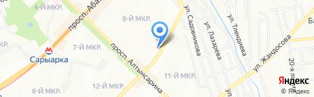Асель продуктовый магазин на карте Алматы