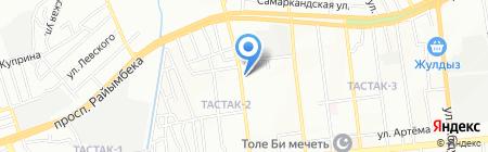 Гаухар-Мед на карте Алматы