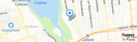 Сталь на карте Алматы