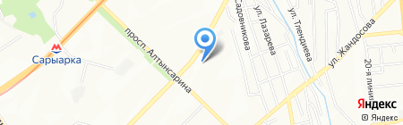 Табыс на карте Алматы