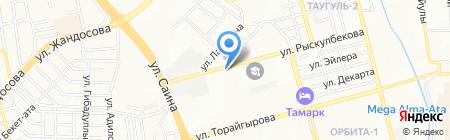 Автостоянка на ул. Рыскулбекова на карте Алматы
