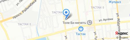 Горная вода на карте Алматы