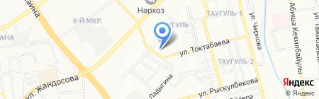 Масай на карте Алматы