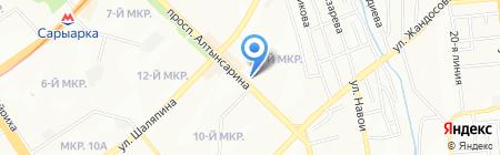 Дуйсенхан на карте Алматы