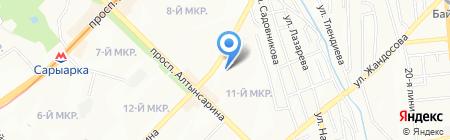 Аяулым на карте Алматы
