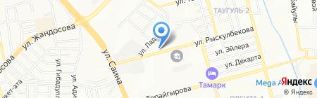 Берёзка продовольственный магазин на карте Алматы