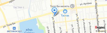 Шамшырак на карте Алматы