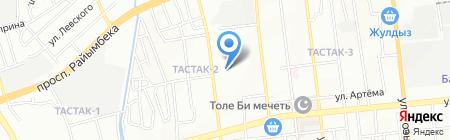 Айнаш на карте Алматы