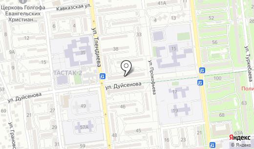 Теремок. Схема проезда в Алматы
