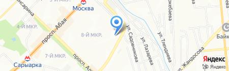 Молодежная на карте Алматы