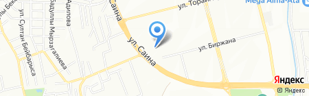 Анеля на карте Алматы