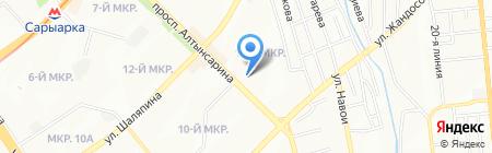 Дамир на карте Алматы
