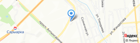 Жолдастар на карте Алматы