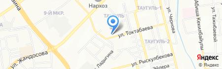 Хлебный дом на карте Алматы