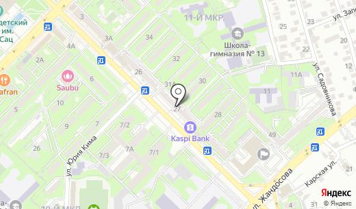 Салон-ателье. Схема проезда в Алматы