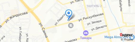 Махамбет на карте Алматы