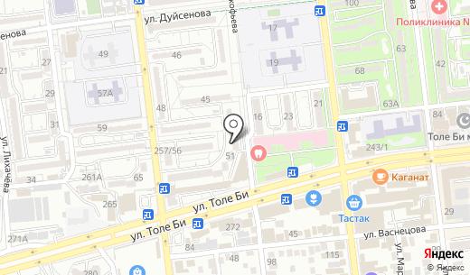 Trialcom. Схема проезда в Алматы