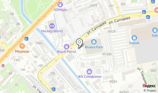 AFS. Схема проезда в Алматы