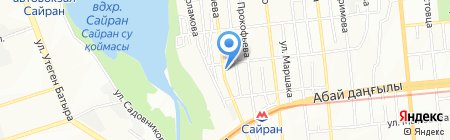СТО на ул. Тлендиева на карте Алматы