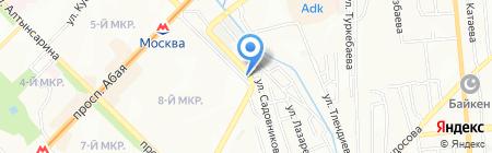 Алаколь на карте Алматы
