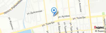 Парикмахерская на ул. Прокофьева на карте Алматы