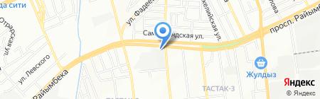 Хамелеон на карте Алматы