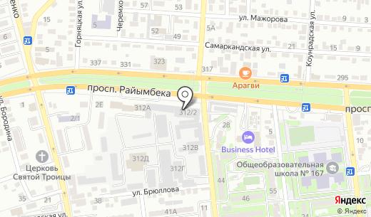 Торгово-монтажная компания. Схема проезда в Алматы