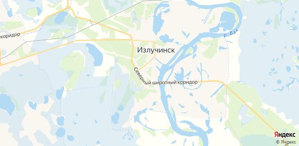 Излучинск на карте