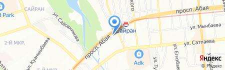 Шикарный на карте Алматы