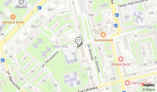 ТАУГУЛЬ супермаркет. Схема проезда в Алматы