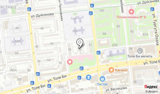 Laura. Схема проезда в Алматы