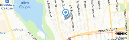 Нур-Айша на карте Алматы