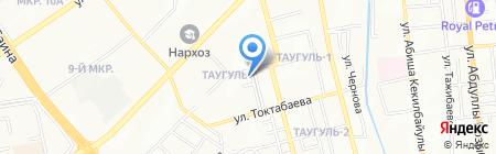 Таугуль на карте Алматы