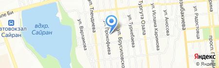 Click на карте Алматы