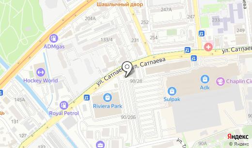 Корея. Схема проезда в Алматы