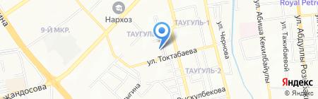 Мастерская по ремонту одежды на ул. Таугуль микрорайон на карте Алматы