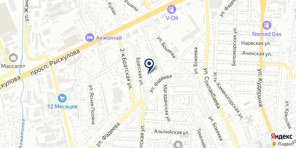 MSB-строй Kaztelecom на карте Алматы