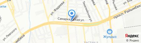 Нурай на карте Алматы