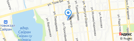 Алёха на карте Алматы
