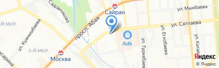 АТФ Банк на карте Алматы