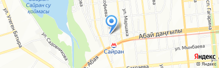 Автостоянка на ул. Прокофьева на карте Алматы