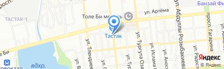 Батыр на карте Алматы